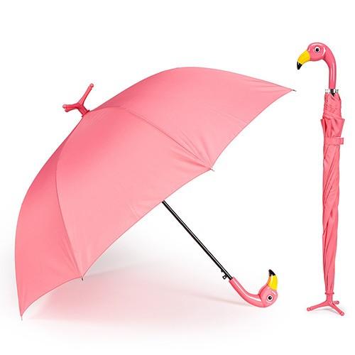 489b775e1 Flamingo Stick Umbrella   TheBazaarist.com