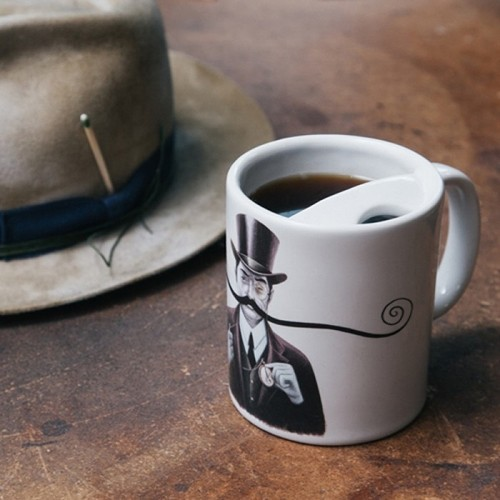 The Original Moustache Guard Mug