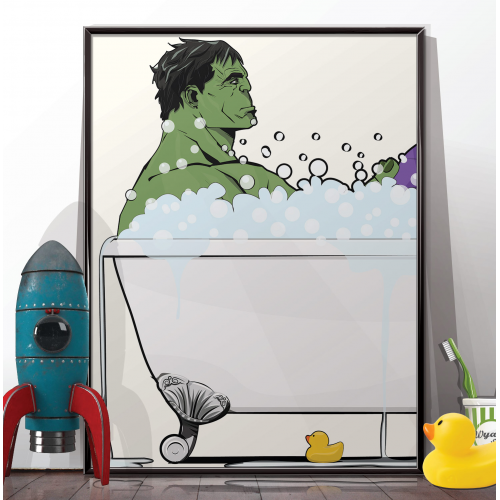 Hulk in the Bath Poster