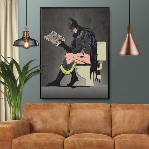 Batman On The Toilet Print