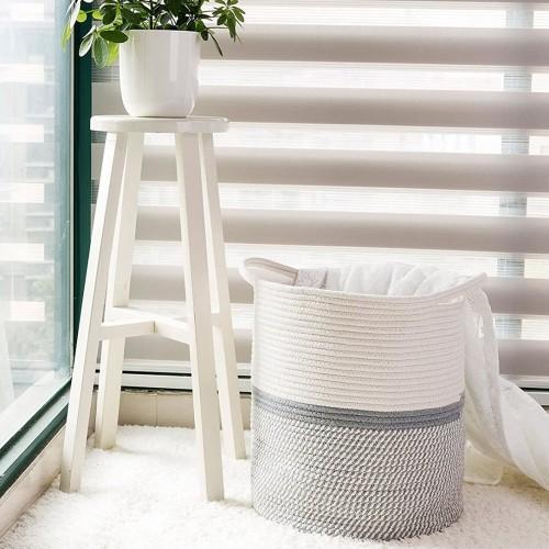 Grey Baby Laundry Basket