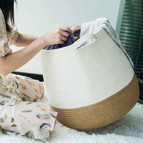 Natural Woven Laundry Basket