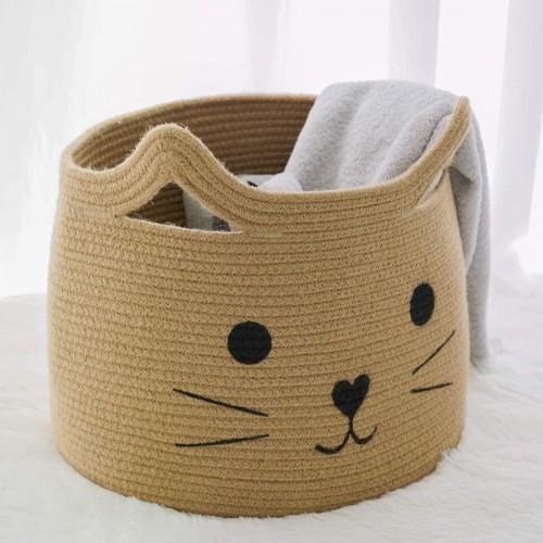 Cat Jute Nursery Basket