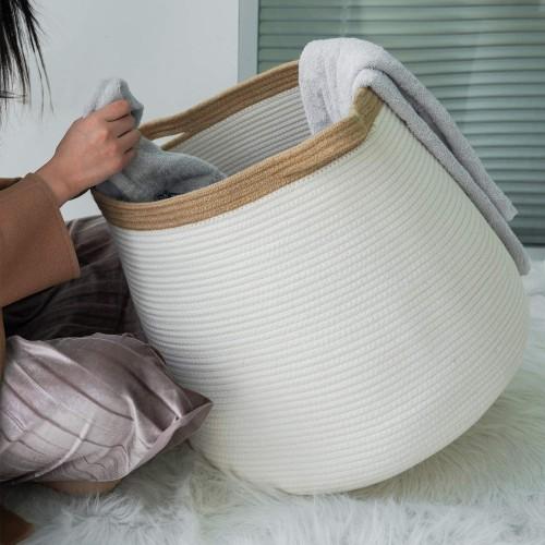 Boho Woven Laundry Basket