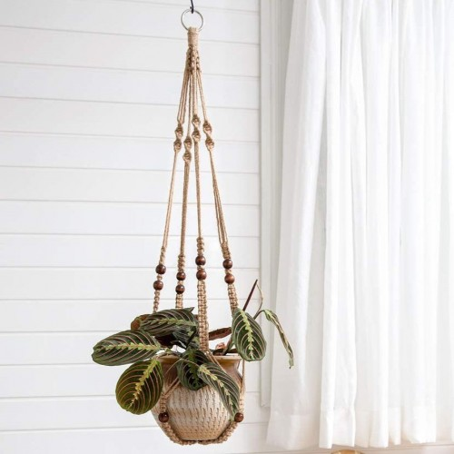 Brown Boho Hanging Planters