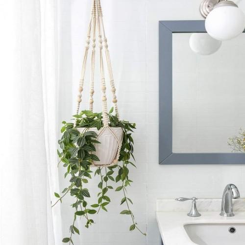 Beige Boho Hanging Planters