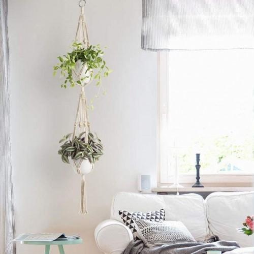 Macrame Double Plant Hanger