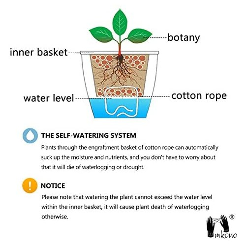 Self Watering Plastic Planters