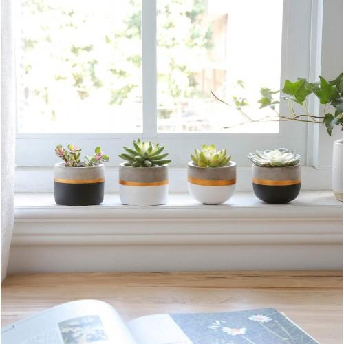 Mini Cement Succulent Planters