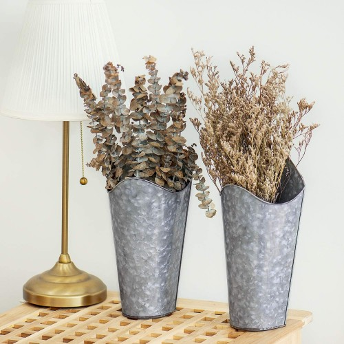 Galvanized Metal Wall Planters