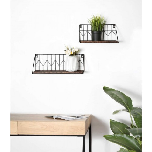 Rustic Floating Display Shelves