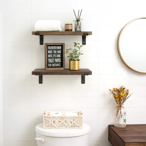 Wood Rustic Wall Shelves