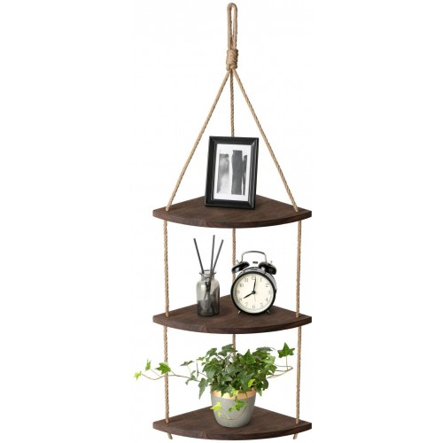 Wood Hanging Corner Shelf