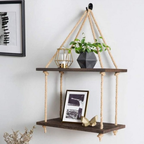 Rustic Wall Hanging Shelf