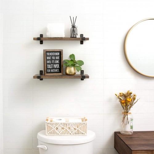 Rustic Wall Mounted Shelves