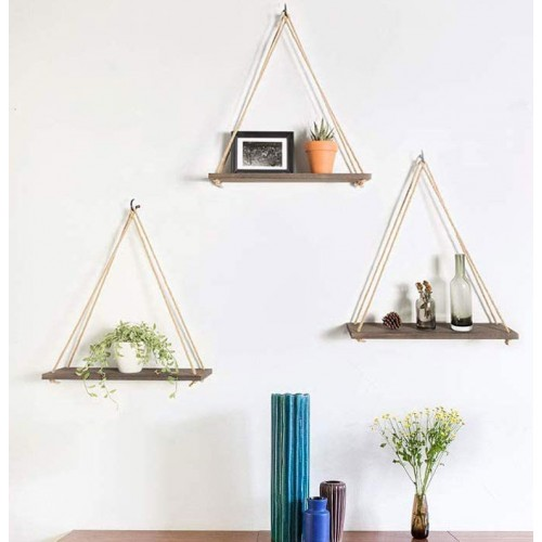 Farmhouse Wood Hanging Shelves