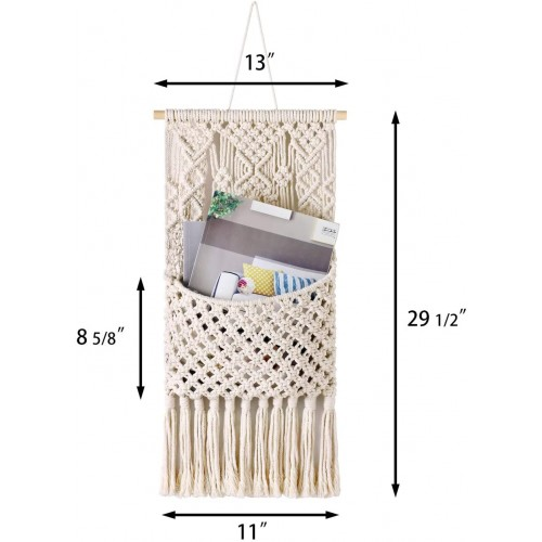 Macrame Wall Holder Organizer