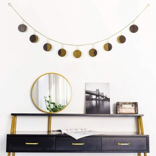 Moon Phase Wood Garland