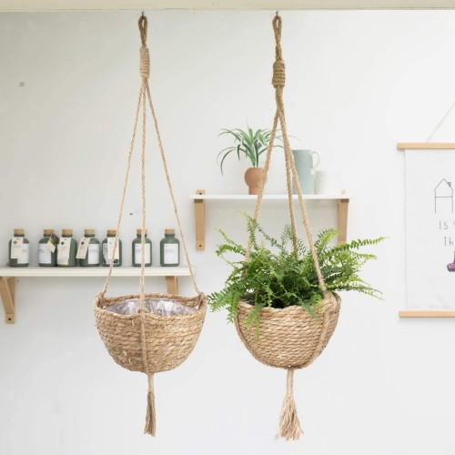 Natural Seagrass Hanging Planter