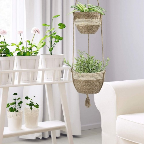 Seagrass Basket Hanging Planters