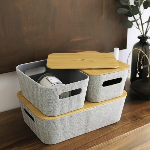 Organizer with Bamboo Lids