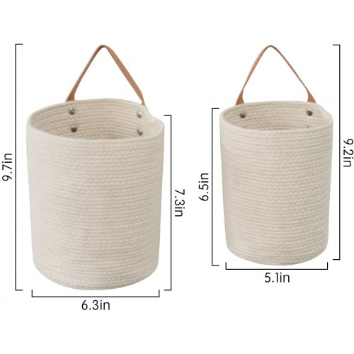 Cotton Rope Hanging Baskets