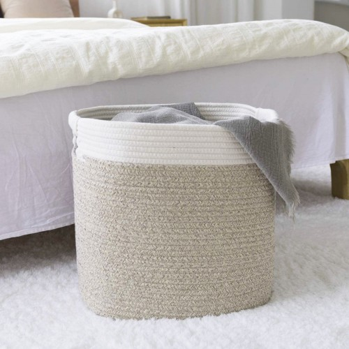 Natural Cotton Rope Baskets