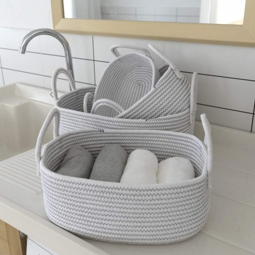 Stackable Baskets with Handles