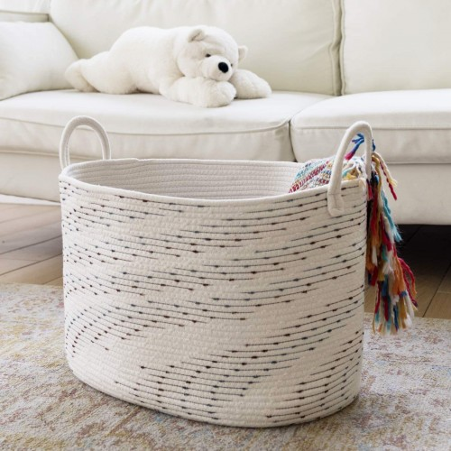 Large Cotton Rope Basket
