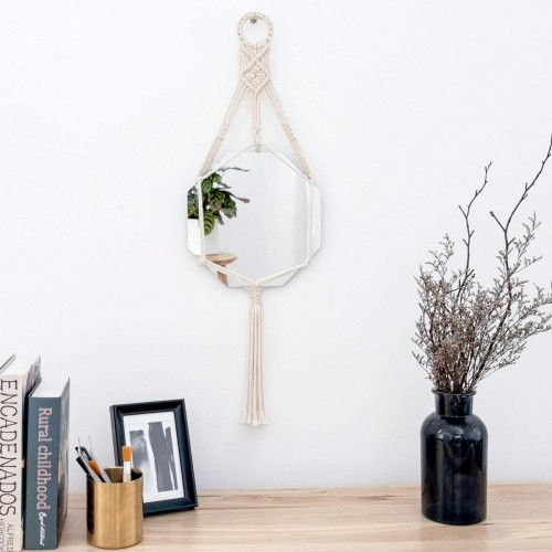Macrame Wall Hanging Mirror