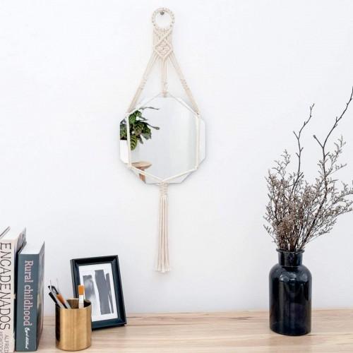 Macrame Wall Hanging Mirror