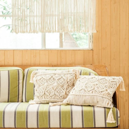 Macrame Throw Pillow Case