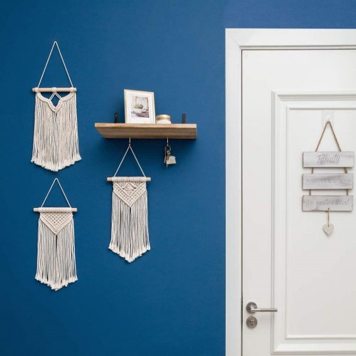 Mini Macrame Hanging Mirror