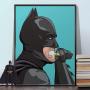 Batman Brushing Teeth Poster