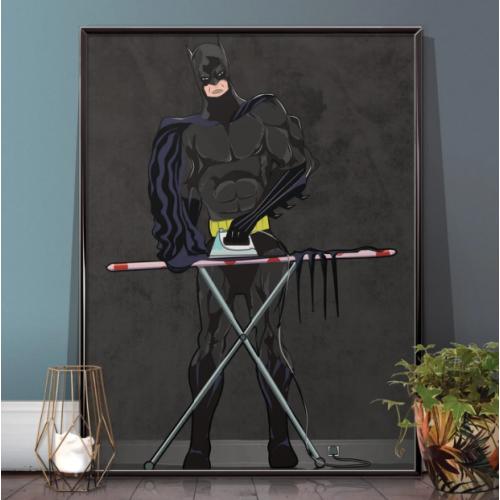 Batman Iron(ing) Man Poster