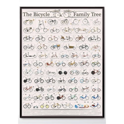 The Bicycle Family Tree Poster