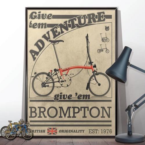 Brompton Vintage Advert Poster