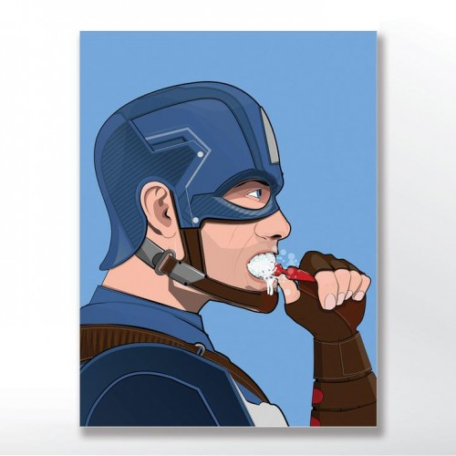 Captain America in The Bath Poster