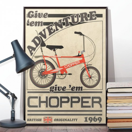 Retro Chopper Bicycle Poster