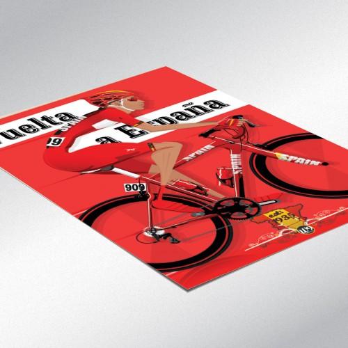 Vuelta a España Bicycle Poster