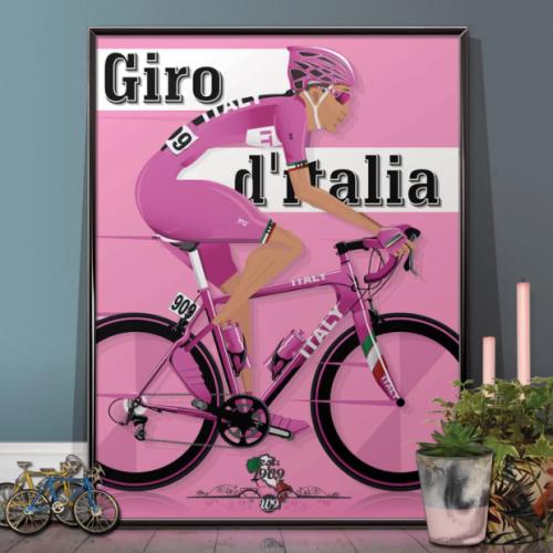 Giro d'Italia Bicycle Poster