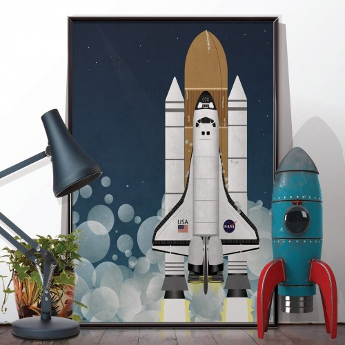 NASA Space Shuttle Rocket Poster