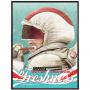 Spaceman Brushing Teeth Poster
