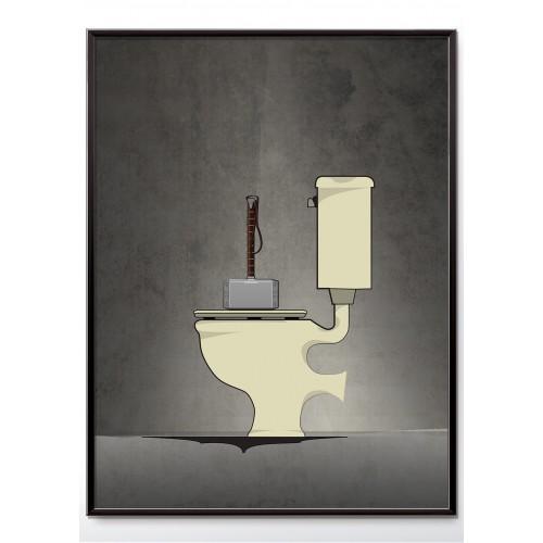 Superhero Thor Bathroom Poster