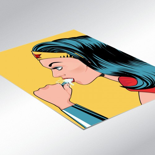 Wonder Woman In The Bath Poster