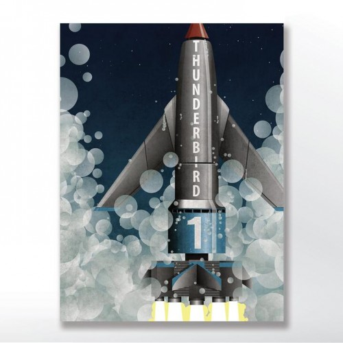 Thunderbird 1 Rocket Poster