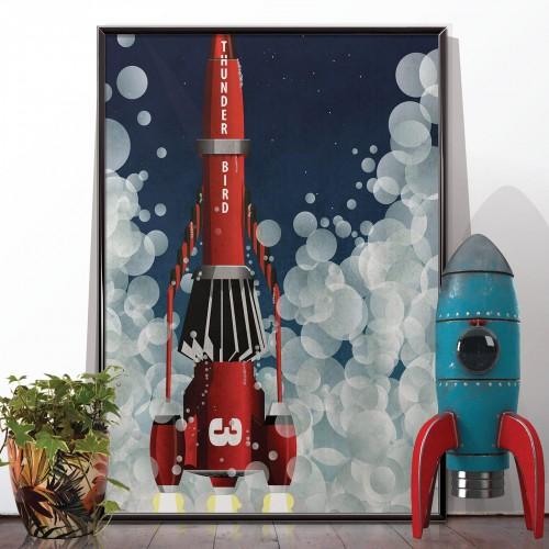Thunderbird 3 Rocket Poster