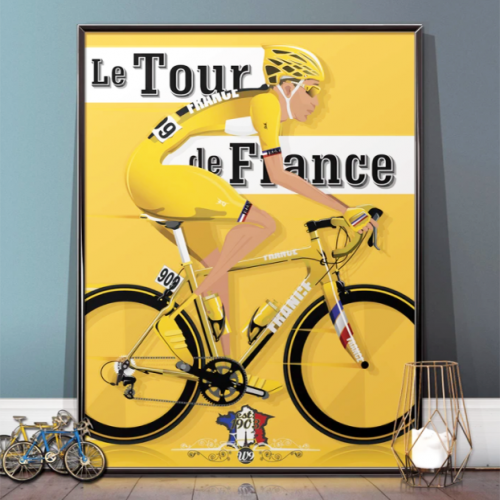 Tour de France Bicycle Poster