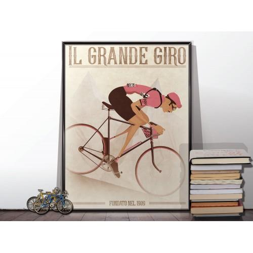 Giro d'Italia Vintage Style Poster