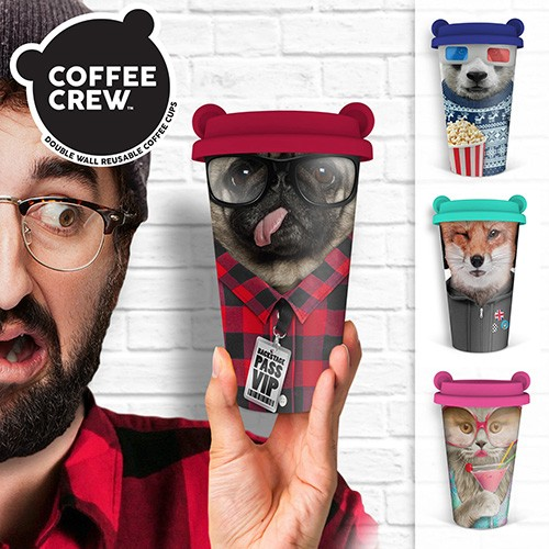 Coffee Crew Animal Mugs